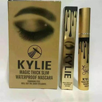 Wholesale Long Lasting False Eyelashes - New Kylie Magic Thick Slim Waterproof makeup mascara volume express false eyelashes make up waterproof cosmetics eyes Kylie Black Mascara