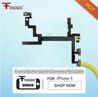 Wholesale Power Cable Testing - 100% Test for iPhone 5 5G Power Button,Switch Sleep Wake, Volume & Mute Button Flex Cable Free Ship