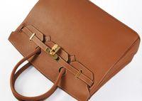 Wholesale Leather Shoulder Bag Buckles - Fashion women handbags Luxury 25 30 35 40cm Brikin platinum package Khaki embossed gold   silver buckle bags
