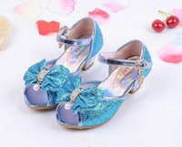 Wholesale High Heels For Children - Children Princess Sandals Kids Girls Wedding Shoes High Heels Dress Shoes Party Shoes For Girls 4 Colors