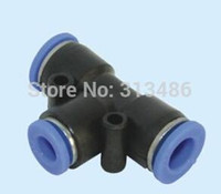 Wholesale Pe Parts - PE-6, Pneumatic fittings 6mm tee fitting , push in quick joint connector