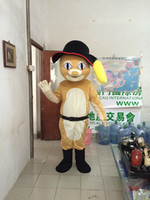 Wholesale Mascot Puss Boots - 2017 Puss in Boots mascot costume cute cartoon clothing factory customized private custom props walking dolls doll clothing