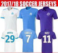 Wholesale Training Linen - Thai quality 2017 18 Training suit de Marseille soccer jersey away blue third purple 2018 SAKAI CLINTON THAUVIN PAYET football shirts