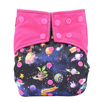Wholesale new waterproof cover resale online - Reusable Cloth Diaper All in one AIO Baby Nappies Couche Lavable Waterproof Pocket Diaper Double Gussets Diaper Cover