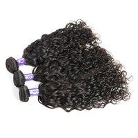 Wholesale Natrual Wave - Unprocessed Brazilain Virgin Human Natrual Wave Hair 4x4 Lace Frontal Clousre With 3 pcs Bundles Color 1B Natural Middle Part Cheap 8A