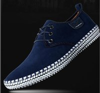 Wholesale Formal Design Leather Shoes - Brand Minimalist Design 100% Genuine Suede Leather shoes Mens Leisure Flat Brand Spring Formal Casual Dress Flat Oxford Shoes