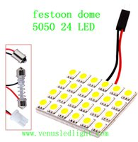 Wholesale Auto Led Festoon Dome Light - vehicle car led interior panel light 24smd 5050 auto led dome reading light with T10 BA9S Festoon