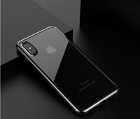 Wholesale Thin Crystal Glass - For iPhone X 8 Plus Tempered Glass Screen Protector + Clear Crystal Ultra Thin TPU Gel Jelly Skin Case Cover