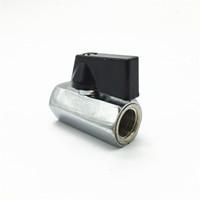kugelhähne wasser kontrolle großhandel-Großhandels- G1 / 4 '' mini silberne Kugel Ventilteil für Wasserstraßensteuerung für PC-Computerwasserkühlsystem benutzt