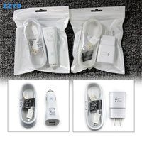 Wholesale Micro Usb Wall Car - ZZYD 5V 2A US EU Fast Car charger Wall charger kit 1.5M Micro USB Cable Travel Adapter For Samsung S8 Smart phone