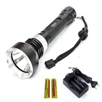 Wholesale Underwater Hunting - NEW Underwater Diving Flashlight XML T6 Dive Torch Rechargeable Waterproof Lantern Lighting Light Use 18650 Battery