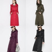 Wholesale Cheap Winter Coats Sale - In Stock Cheap Long Brand Down Jackets For Women Down Coats High Quality Keep Warm Red Coat Woman Winter Coats Jackets Hot Sale