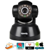 Wholesale Tenvis Wifi Wireless Security Ip - Tenvis JPT3815W Wifi Wireless Baby Monitor IP Camera Security P T Phone Remote View Camera P2P network IOS & Android Application