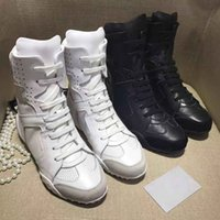 Wholesale Women S Short Leather Boots - sport style Help in the short boots joker Black and white cow leather upper Sheepskin inside women 's