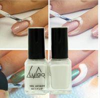 Wholesale Nail Polish Protect - White Peel Off Liquid nail art Tape Latex Tape & finger skin protected liquid Palisade Easy clean Base Coat care nail polish free shipping
