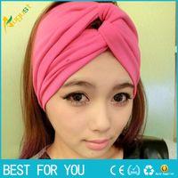 Wholesale Twist Elasticity Turban Headbands for Women Sport Head band Yoga Headband Headwear Hairbands Bows Girls Hair Accessories A9012 new hot