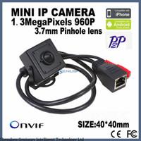 мегапиксельная внутренняя сетевая камера оптовых-H.264 1.3 Мегапиксельная 960P HD Сетевая Камера Внутренняя Безопасность Micro Ip-Камера Onvif P2p Поддержка Телефон WatchPC Пульт Дистанционного Управления