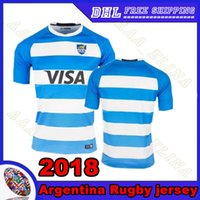 Wholesale Argentina Rugby - new Argentina Rugby jersey 2018 home Thai quality football uniform 2017 Argentina Men Rugby shirt Free shipping S-3XL