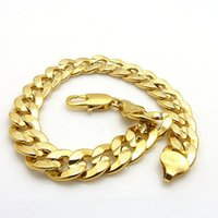 18k 18ct amarelo ouro preenchido Womens Mens Bracelet Curb Chain Link 8.3