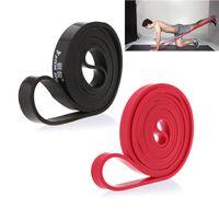 équipement naturel achat en gros de-208 cm Naturel Latex Pull Up Physio Bandes De Résistance Fitness CrossFit Boucle Bodybulding Yoga Exercice De Fitness Équipement