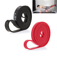 equipos de resistencia al por mayor-208cm látex natural tire hacia arriba Physio bandas de resistencia Fitness CrossFit Loop Bodybulding yoga ejercicio Fitness Equipment