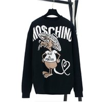 Wholesale Brand Computer Mouse - 2017 Free Shipping High End Autumn O-Collar Mouse Jacquard Letter Women's Sweater Brand Style Knitted Women's Pullover 010