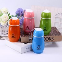 Wholesale Penguin Stainless Steel - 4 Colors 300ml Kids Penguin Tumblers Penguin Stainless Steel Water Bottle Drinking Bottles Double Wall Vacuum Insulated Cups CCA7214 100pcs