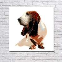 Wholesale Dog Pictures - High Quality Abstract Dog Oil Painting Wall Art Decorative Bedroom Wall Pictures Animal Oil Painting on Canvas