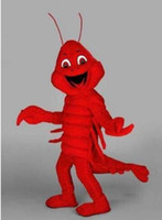 Wholesale Lobster Costume Adult - Customized red lobster mascot costumes halloween costumes for adults animal mascot costume festival fancy dress free shipping