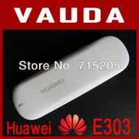 Wholesale huawei 3g dongle - Wholesale- Unlocked E303 Huawei USB Modem Dongle 3G wireless modem with Free shipping E1820 E182E