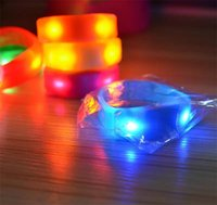 Controle de som ativado por música Led piscando Pulseira Light Up Bangle Wristband Club Party Bar Cheer Luminous Hand Ring Glow Stick Night b1474
