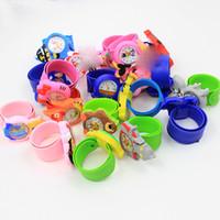 Wholesale Kids Girls Bracelet Watches - Fashion Kids Cartoon Jelly Silicone Watches 3D Animals Silicone Slap Wristwatch Bracelet for Children Boys Girls Gift Watches Multi Design
