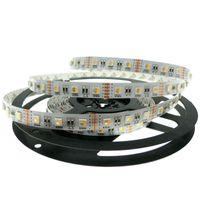 Wholesale Pc Chips - 24v 12V RGBW LED Strip 5050 Flexible LED Light RGW   RGBWW 4 color in 1 LED Chip 60 LED m 5m lot.