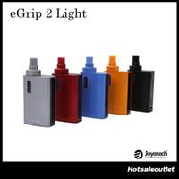 Wholesale E Liquids Tanks - Authentic Joyetech eGrip II Light VT Kit 2100mAh Build-in Battery with 3.5ml E-liquid Capacity Top Refilling Tank eGrip 2 Light Kit