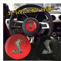 Wholesale Ford Mustang Badges - 1PC Black Steering Wheel horn Emblem for Ford for Ford Mustang GT350 shelby Badge