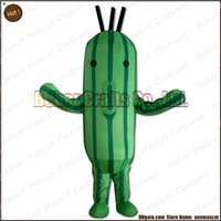 Wholesale Cucumber Cartoon - cucumber mascot costume EMS free shipping, cheap high quality carnival party Fancy plush walking cactus mascot cartoon adult size.