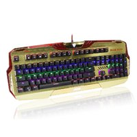 Wholesale Led Backlit Computer - NEW E-3lue computer gameEKM740 Molding Mechanical Feel Gaming Keyboard Golden green axis LED Multicolor Backlit Keyboard USB Wired for PC
