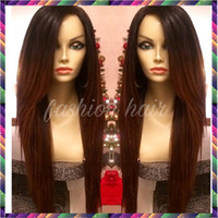 Wholesale Indain Human Hair - 7A Full Lace Human Hair Wigs for Black Women Glueless Full Lace Wigs Indain Virgin Hair Straight Lace Front Human Hair Wigs
