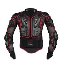 Wholesale Protective Jackets - 2016 New Professional Motorcycle Riding Body Protection Motocross Full Body Armor Spine Chest Protective Jacket Gear Guards 2 color