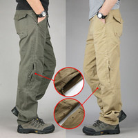 Wholesale Mens Multi Pocket Cargo Pants - 30-40 Plus size High Quality Men's Cargo Pants Casual Mens Pant Multi Pocket Military Overall for Men Outdoors Long Trousers