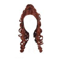 Wholesale multi color cosplay wigs - 60cm Medium Wavy Multi-Color Synthetic Cosplay Wig 100% High Temperature Fiber Hair WIG-016I