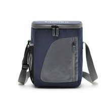 yalıtılmış piknik çantaları toptan satış-Toptan-8.8L Termal Soğutucu Yalıtımlı Su Geçirmez Öğle Yemeği Kutusu Depolama Piknik Çantası Kılıfı Taşınabilir Yalıtımlı Lunchbag Soğutucu Çanta