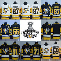 Wholesale Gold Mario - 2018 Stanley Cup Pittsburgh Penguins 87 Sidney Crosby 66 Mario Lemieux 30 Matt Murry 71 Evgeni Malkin 81 Phil Kessel Guentzel Jerseys