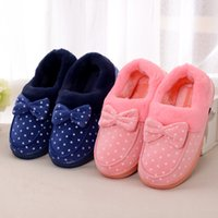 Wholesale- Women House Slippers Winter Warm Soft Soft Chinelos Mulheres Indoor Floor Slippers Pink Flannel Home Shoes Size 36-41