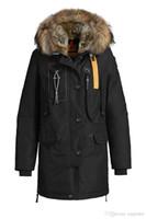 Wholesale Leather Fur Hooded Jackets Women - 2017 Hot Sale Luxury women's kodiak down Jacket Hoodies Fur Fashionable Winter Coats Warm Parka Free shipping