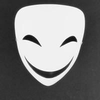 Wholesale Japan Cartoon Costume - Black Bullet Smile Face White Mask Kagetane Hiruko Halloween Japan Anime Cartoon Moive Masquerade Cosplay Costume Resin Masks
