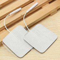 Wholesale Tens Electrode Wholesale Free Shipping - Lots 100 Square TENS machine EMS Replacement Electrode Pads Self-Adhesive massager pad 4X4cm Extra pad Free-shipping