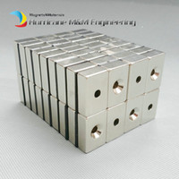 Wholesale neodymium magnets block hole resale online - 20pcs NdFeB Fix Magnet x20x10mm with M5 Screw Countersunk Hole Block N42 Neodymium Rare Earth Permanent Magnet
