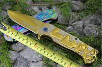 Wholesale popular knives resale online - Popular Knife Browning Folding Pocket Knife Fast Open HRC Blade EDC Pocket Camping Tactical Knife Gift F469L