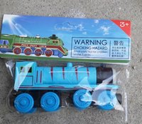 Wholesale Thomas Train Car Wooden - Wooden Mini Trains Cartoon Car Toys Magnetic Connection Thomas Train Friends Childrens Boy Girl Safe Christmas Gifts Retail Packaging DHL